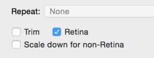 Retina options in Quick Sprites