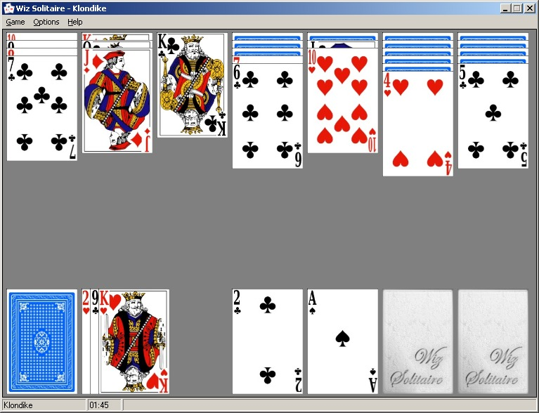 Click to view Wiz Solitaire 3.0 screenshot