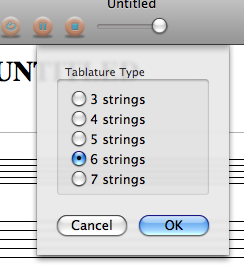 Selecting the number of strings